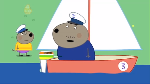 """Captain Dog: """"See you later Danny I'm going to sail around the world"""""""