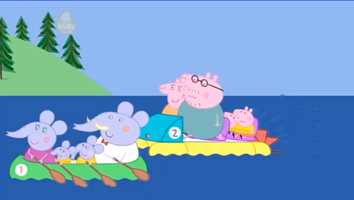 """Daddy Pig: """"I'm not sure I can peddle much faster."""""""